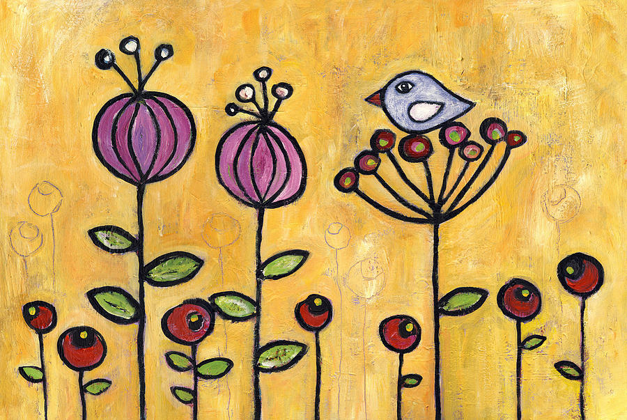 Song Of Solomon Painting - Galilee Wildflowers by Susie Lubell