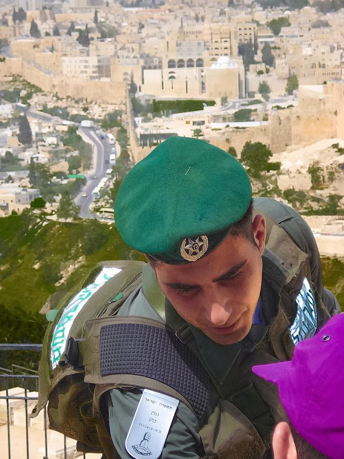 Israel Photograph - Gallant And Kind Israeli Soldier by Sandra Pena de Ortiz