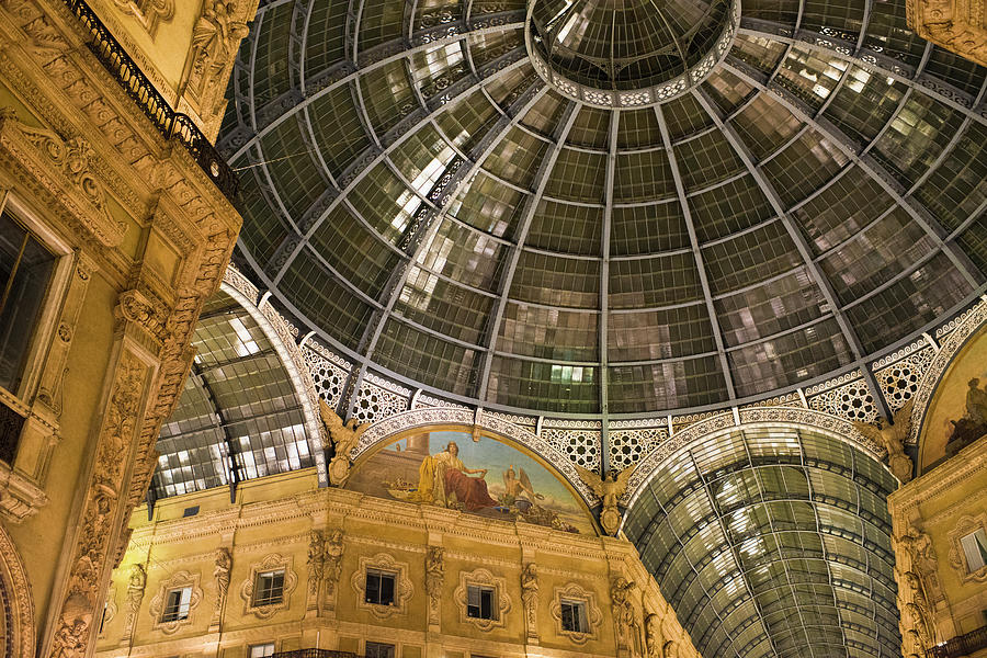 Galleria Vittorio Emanuele II At Night Photograph by Uygargeographic
