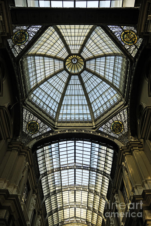 Architecture Photograph - Gallery Glass Roof Of The City Hall Building by Sami Sarkis