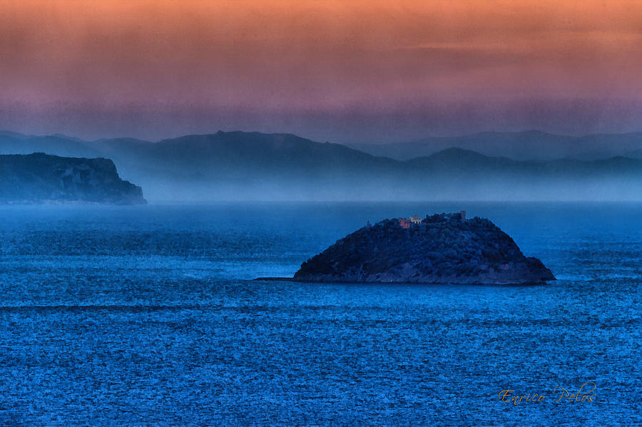 Gallinara Island Photograph - Gallinara Island Sunset Hour by Enrico Pelos