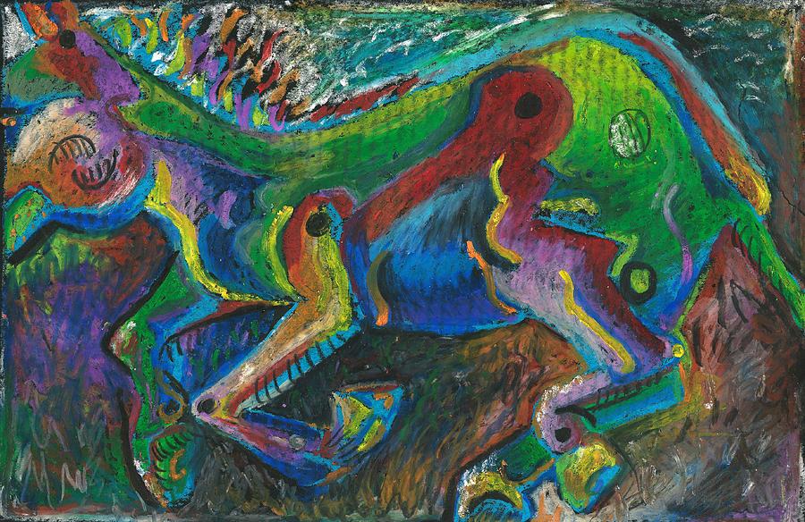 Mule Painting - Galloping Mule by Melinda Dare Benfield