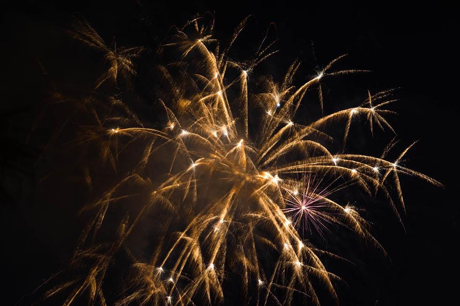 Fireworks Photograph - Galveston Fireworks by Jason Brow