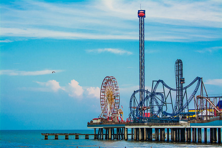 Galveston Pier Photograph - Galvestor Pier 2.0 by Jason Brow