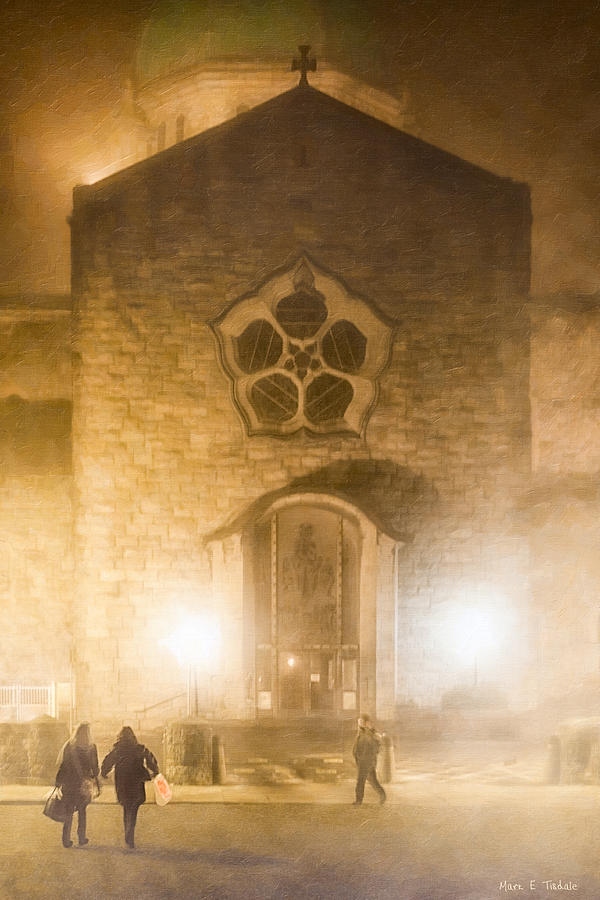 Galway Photograph - Galway Cathedral In A Winter Fog by Mark E Tisdale