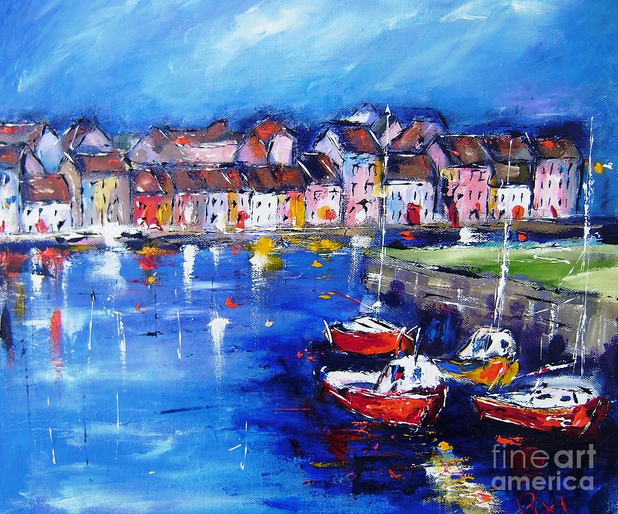 Galway Painting - Large  Wall Art Prints On Stretched Canvas, Www.pixi-art.com,delivered, Printed From An Original Art by Mary Cahalan Lee- aka PIXI
