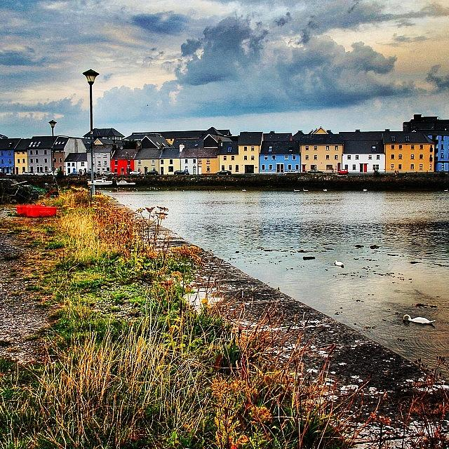Europe Photograph - #galway #ireland #city #cityscape by Luisa Azzolini