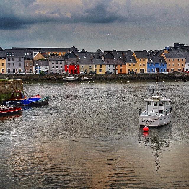 Cityscape Photograph - #galway #ireland #houses #sea #atlantic by Luisa Azzolini