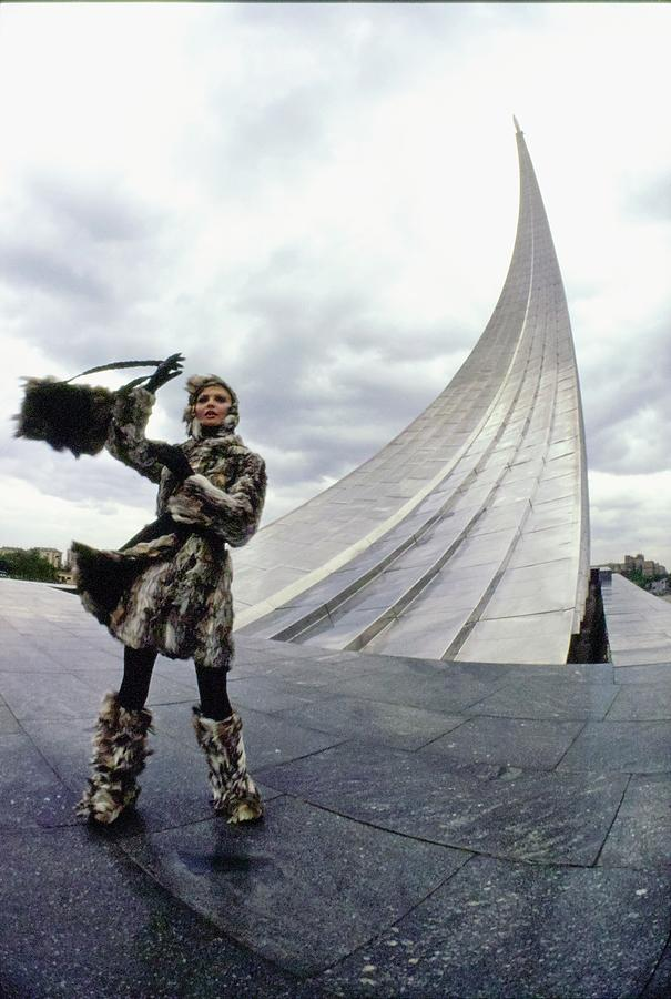 Galya Milovskaya Wearing Fur Photograph by Arnaud de Rosnay