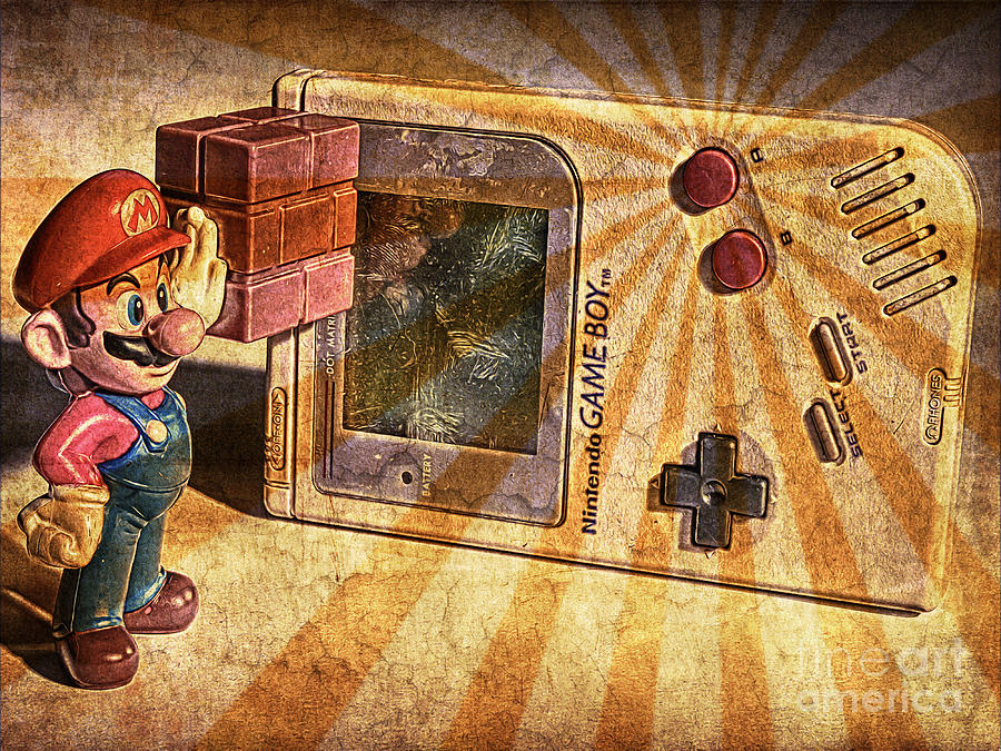 Nintendo Photograph - Game Boy and Mario - Vintage by Stefano Senise