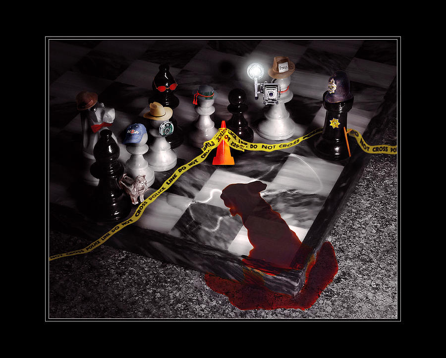 Savad Photograph - Game - Chess - Its Only A Game by Mike Savad