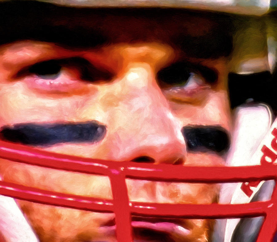 New England Patriots Painting - Game Face by Michael Pickett