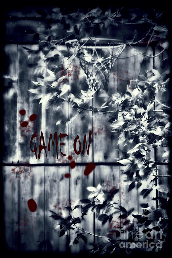 Game On Basketball Blue by Cathy Beharriell