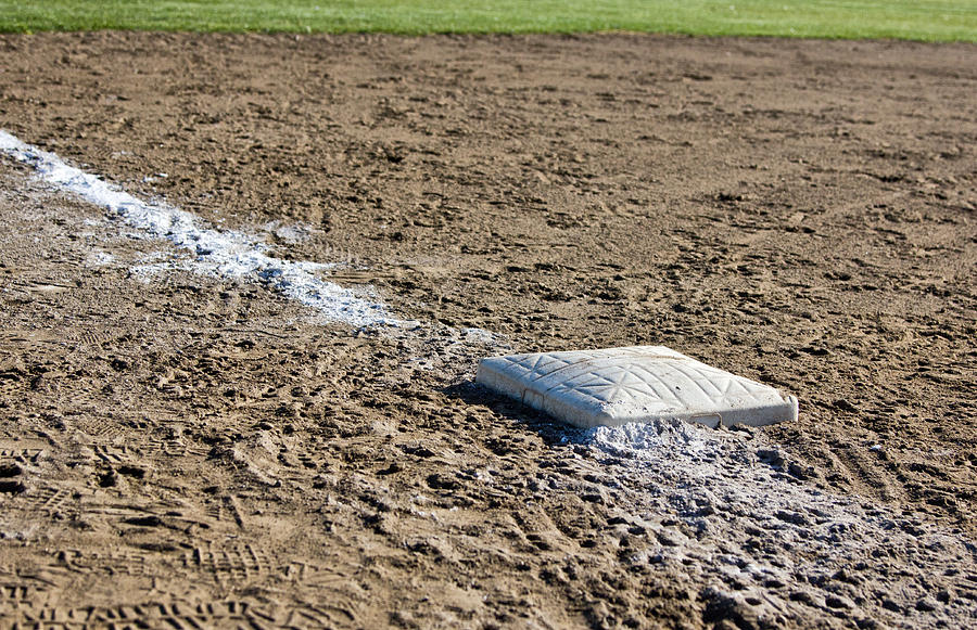 Baseball Diamond Photograph - Game Over by Bob Noble Photography