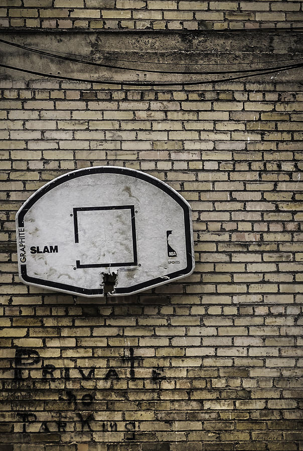 Basketball Photograph - Game Over - Urban Messages by Steven Milner
