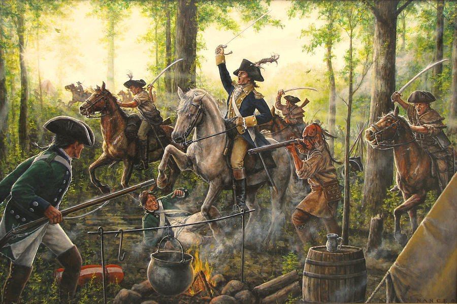 Gamecock Of The Revolution Painting By Dan Nance