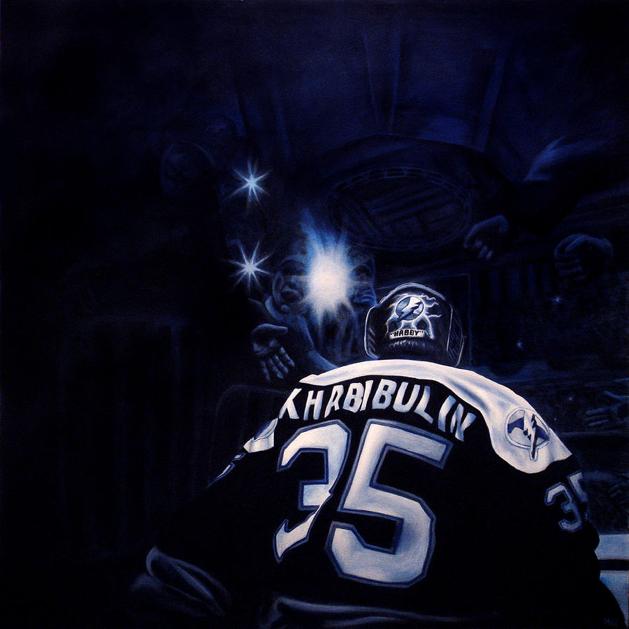 Nhl Painting - Gametime by Marlon Huynh