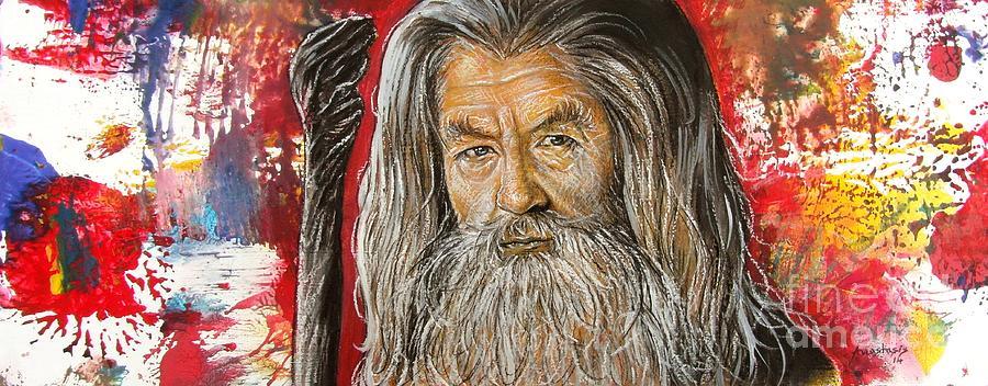 Gandalf Painting - Gandalf by Anastasis  Anastasi