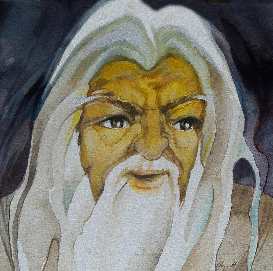 Portrait Painting - Gandalf Headstudy by Patricia Howitt