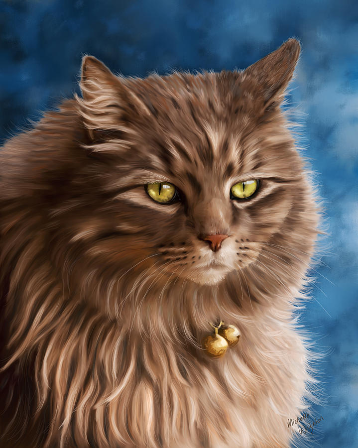 Cats Painting - Gandalf by Michelle Wrighton