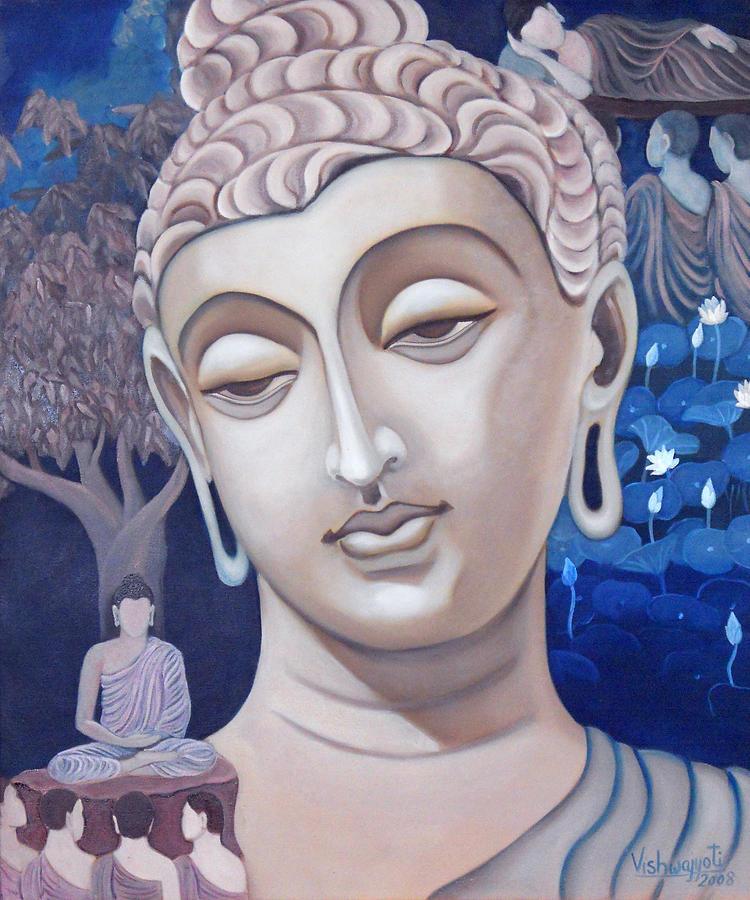 Gandhara Painting - Gandhara Buddha by Vishwajyoti Mohrhoff