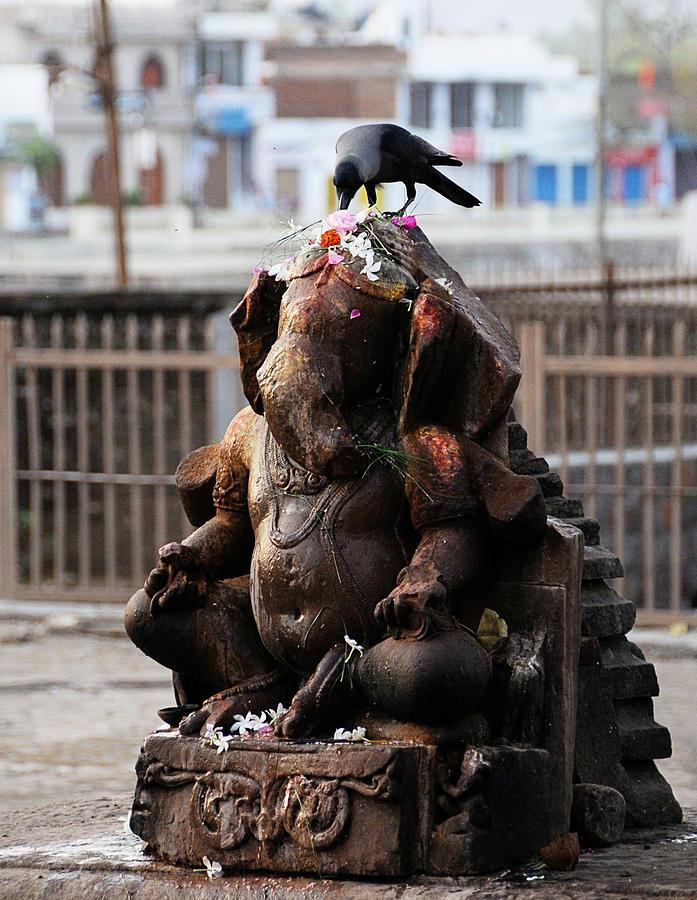 India Photograph - Ganeha Idol by Money Sharma