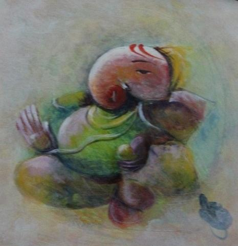 Paintings Painting - Ganesha 9776 by Sir