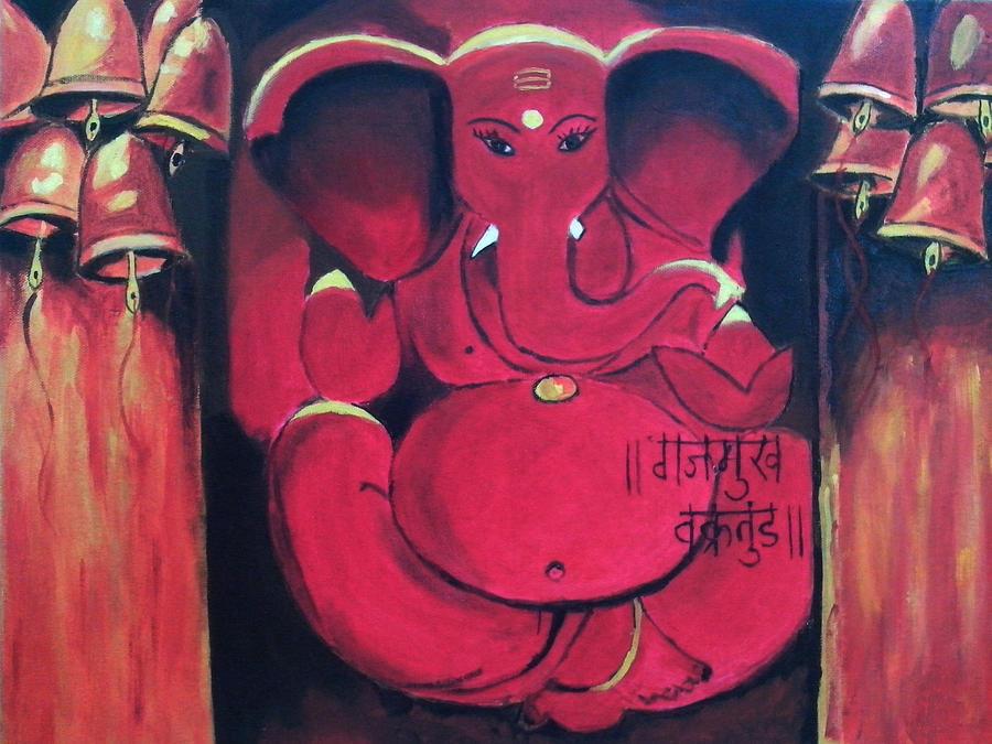 Ganesha Painting - Ganesha by Anil Nene