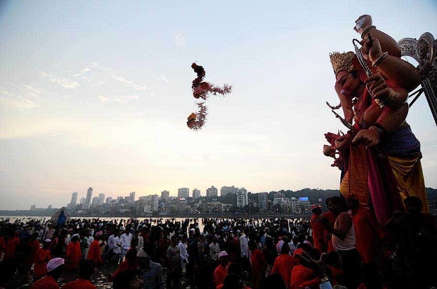 Ganesha Photograph - Ganesha Blessings by Money Sharma