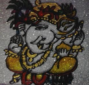 Ganesha Painting - Ganesha by Meghna Suvarna