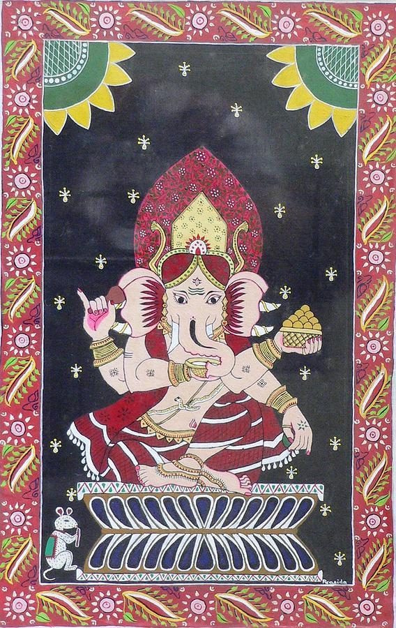 Ganesha Painting - Ganesha The Hindu God by Prasida Yerra
