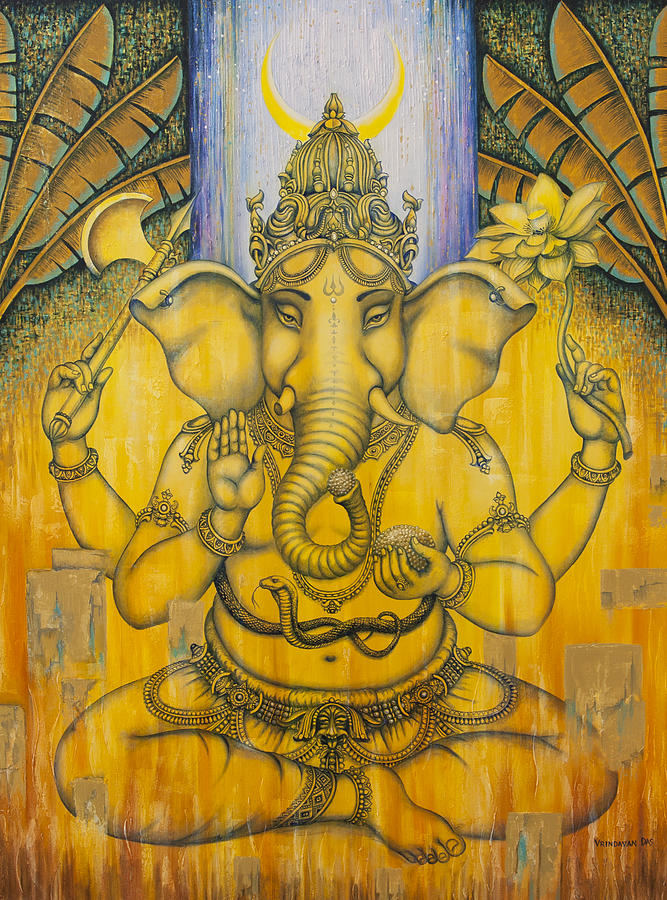 Ganesha Painting - Ganesha by Vrindavan Das