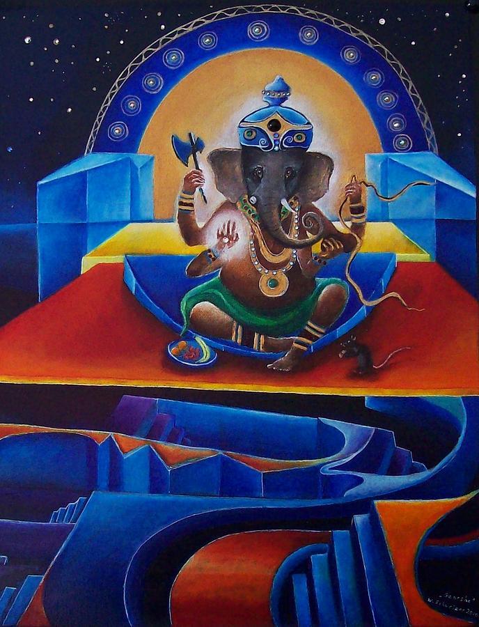 Ganesha Painting - Ganesha by Wolfgang Schweizer