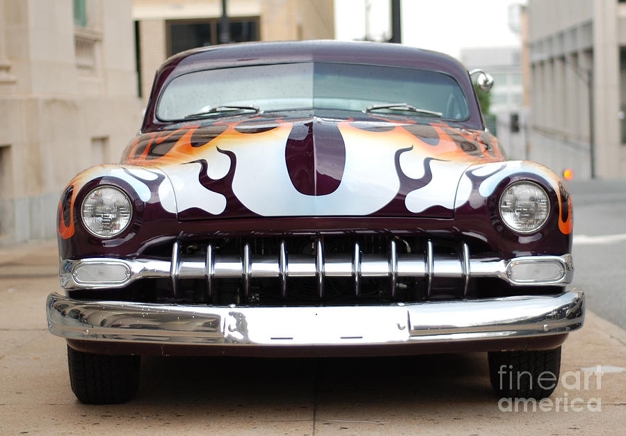 Chopped-top Mercury Photograph - Gangster Car by Jt PhotoDesign