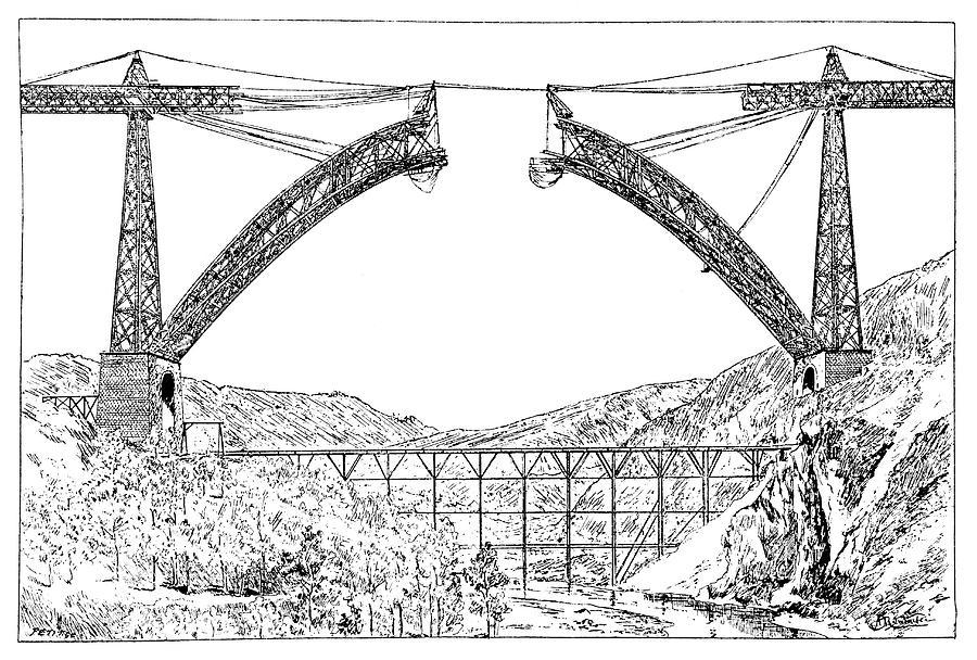 Garabit Viaduct Photograph - Garabit Viaduct by Science Photo Library