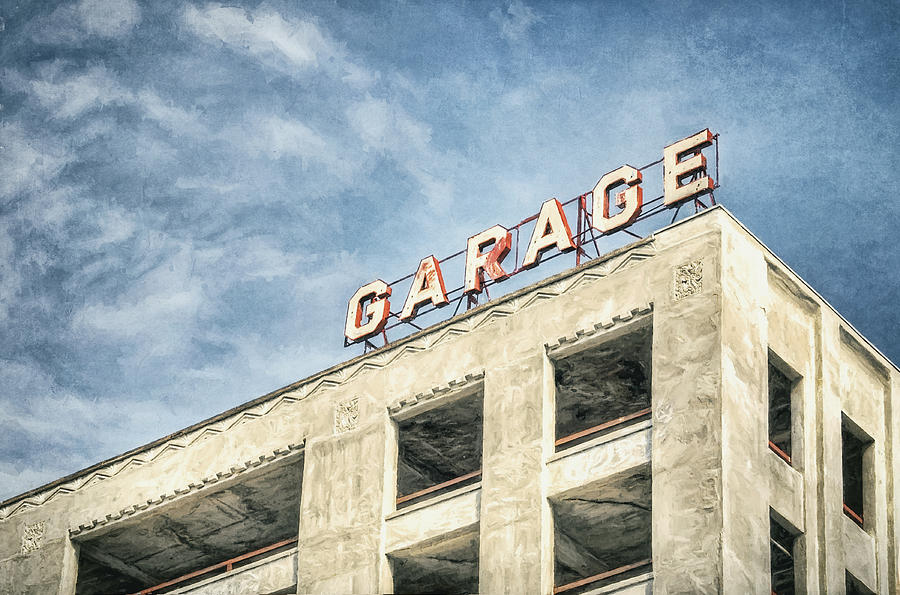 Architecture Photography Photograph - Garage by Scott Norris