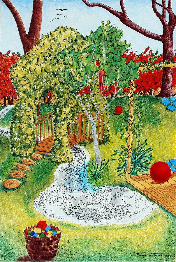 Garden Drawing - Garden # 1 by Zuzana Vass