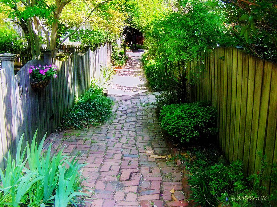 2d Photograph - Garden Alley by Brian Wallace