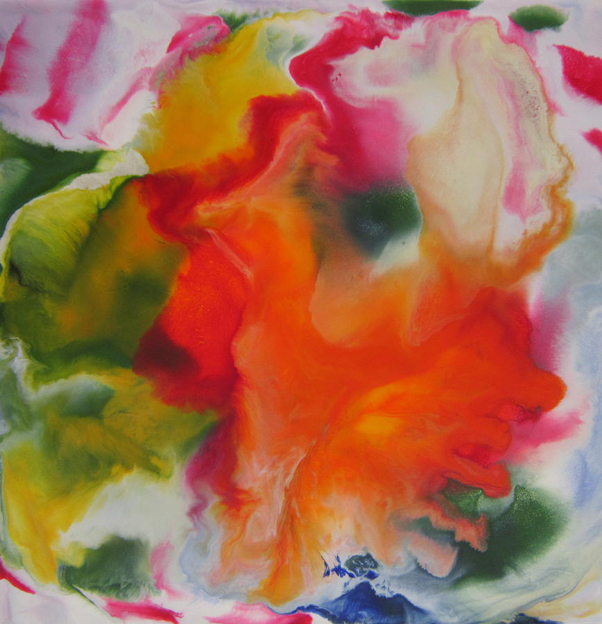 Abstract Painting - Garden Angel Abstract by Marita McVeigh