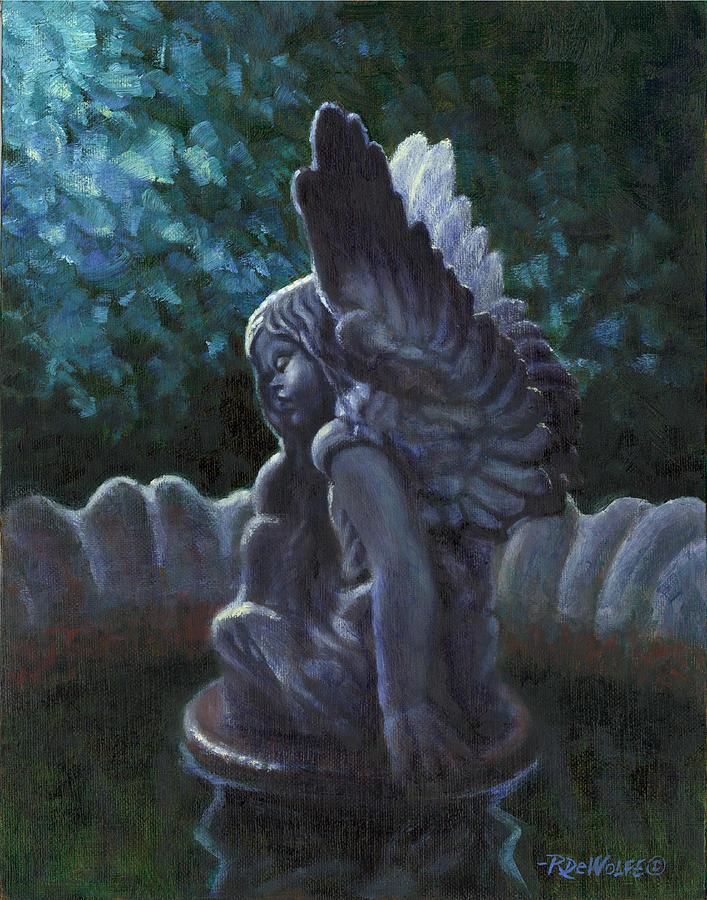 Garden Angel Painting by Richard De Wolfe