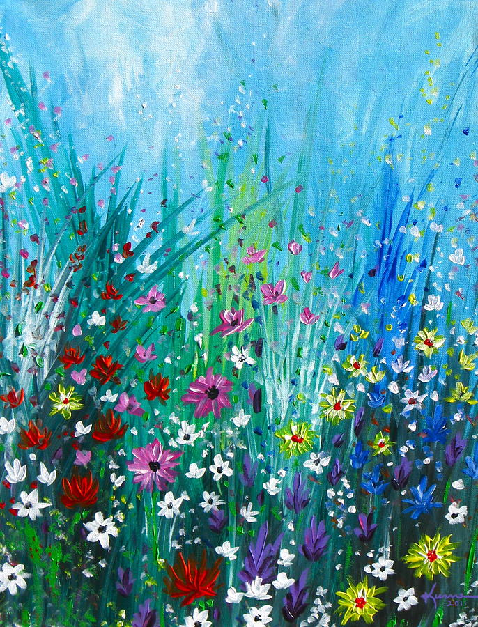 Garden Painting - Garden At Early Morning by Kume Bryant