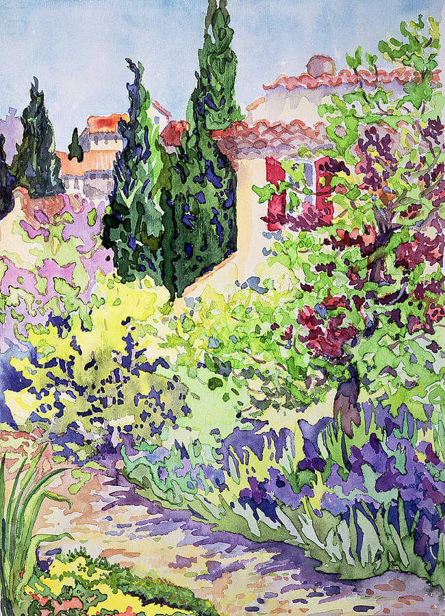 South Of France Painting - Garden At Vaison by Julia Gibson