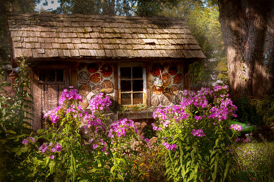 Building Photograph - Garden - Belvidere Nj - My Little Cottage by Mike Savad