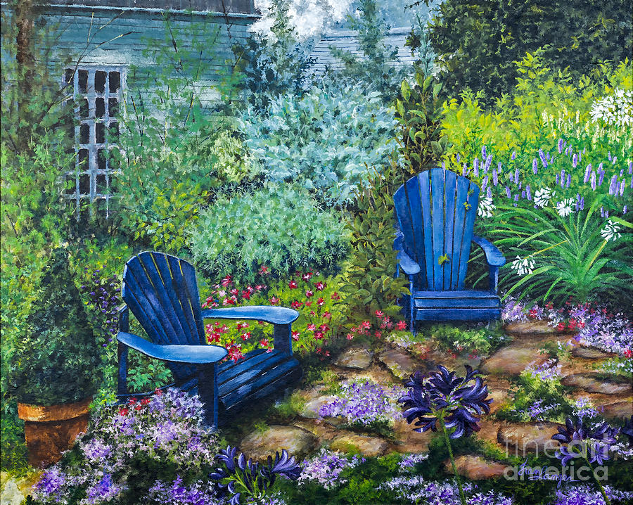 Garden Chairs In The Adirondacks By Fran Langer