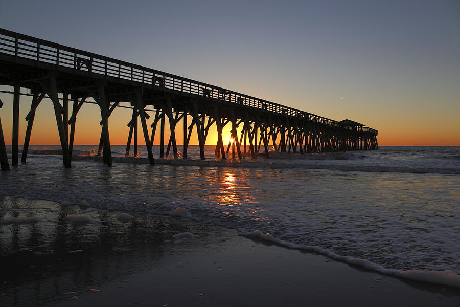Garden City Beach Pier Photograph By Brian Hamilton