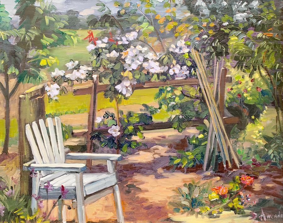 Garden Painting - Garden Corner by Dominique Amendola