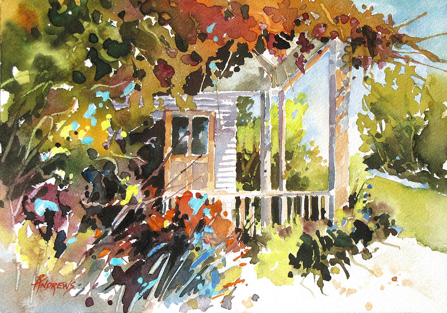Porch Painting - Garden Delight by Rae Andrews