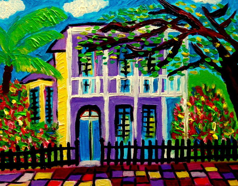 Garden District New Orleans Painting By Ted Hebbler