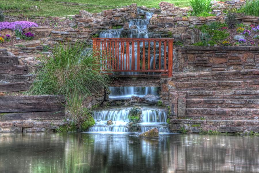 Water Photograph - Garden Falls by Tony  Colvin