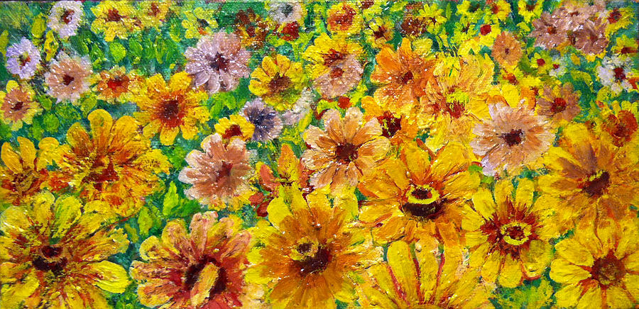 Painting - Garden Flowers by Don Thibodeaux